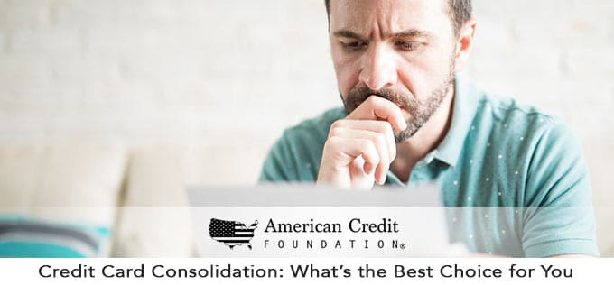 credit card consolidation - what's the best choice for you