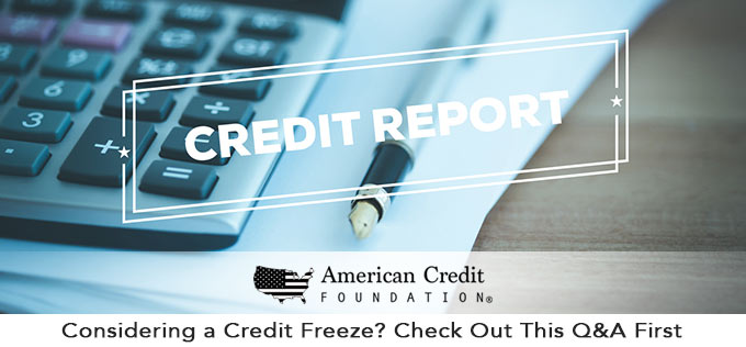 credit freeze FAQ