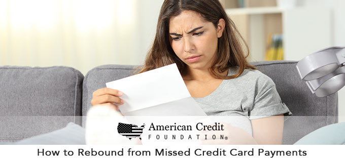 how to rebound from missed credit card payments