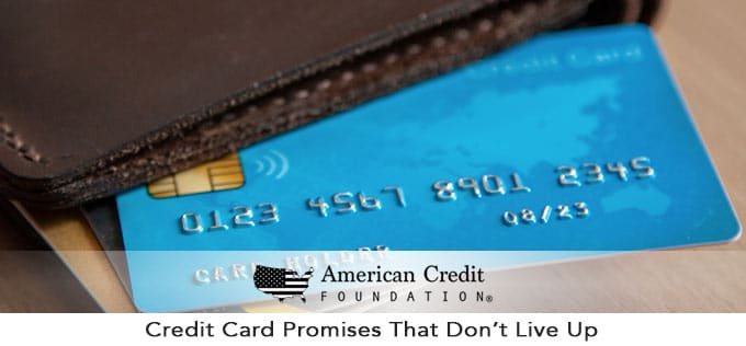 Credit Card Promises That Don't Live Up