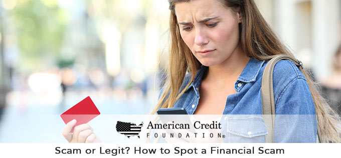 Scam or Legit? How to Spot a Financial Scam