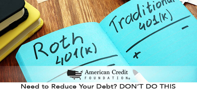 Need to Reduce Your Debt? DON'T DO THIS