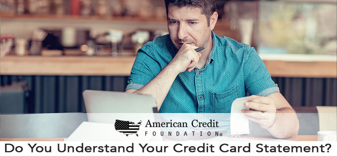 Do You Understand Your Credit Card Statement?