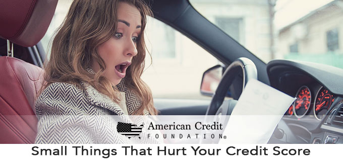 Small Things That Hurt Your Credit Score